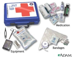 Basic first aid kit for the flyfisher