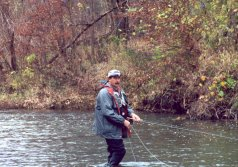 On-stream fly fishing school:  Streamer Fishing