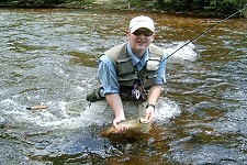 On-stream fly fishing school:  Introduction to Stream Fly Fishing